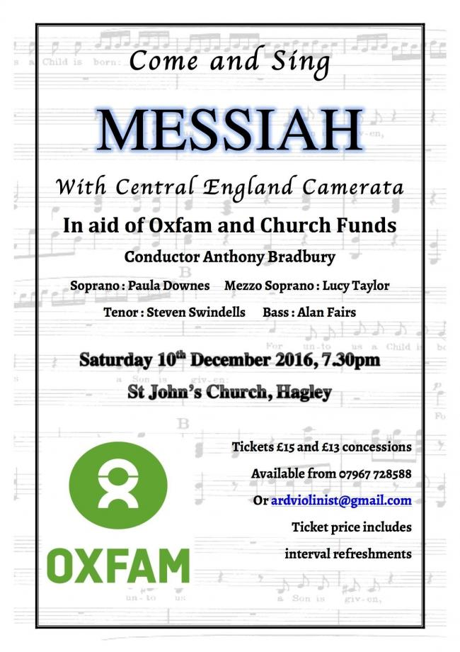 The Come and Sing Messiah charity concert is taking place at St John's Church, in Hagley, on Saturday December 10. Photo: Anna Downes