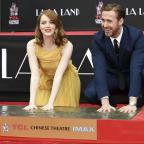 Droitwich Advertiser: Film stars Ryan Gosling and Emma Stone immortalised on Hollywood Boulevard