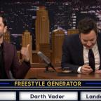Droitwich Advertiser: Watch Riz Ahmed drop an impressive Star Wars-themed freestyle for Jimmy Fallon