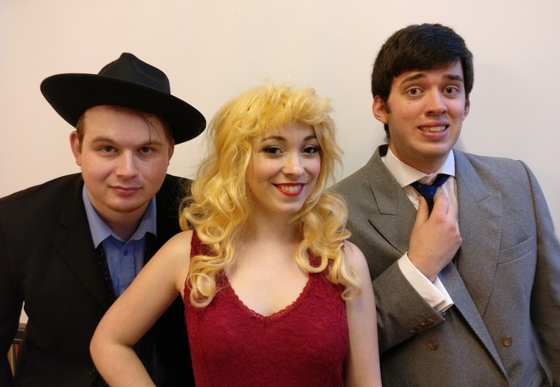 Lewis Doley as Max, Jess Billingham as Ulla and Ollie Edwards as Leo