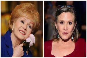 Hundreds of fans honour Carrie Fisher and Debbie Reynolds at joint memorial