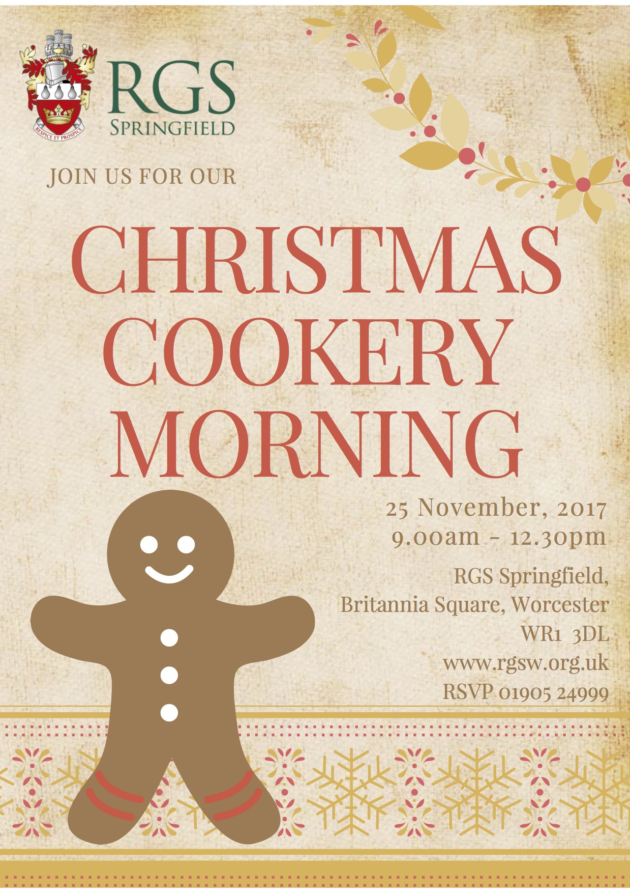 RGS Springfield Christmas Cookery Morning
