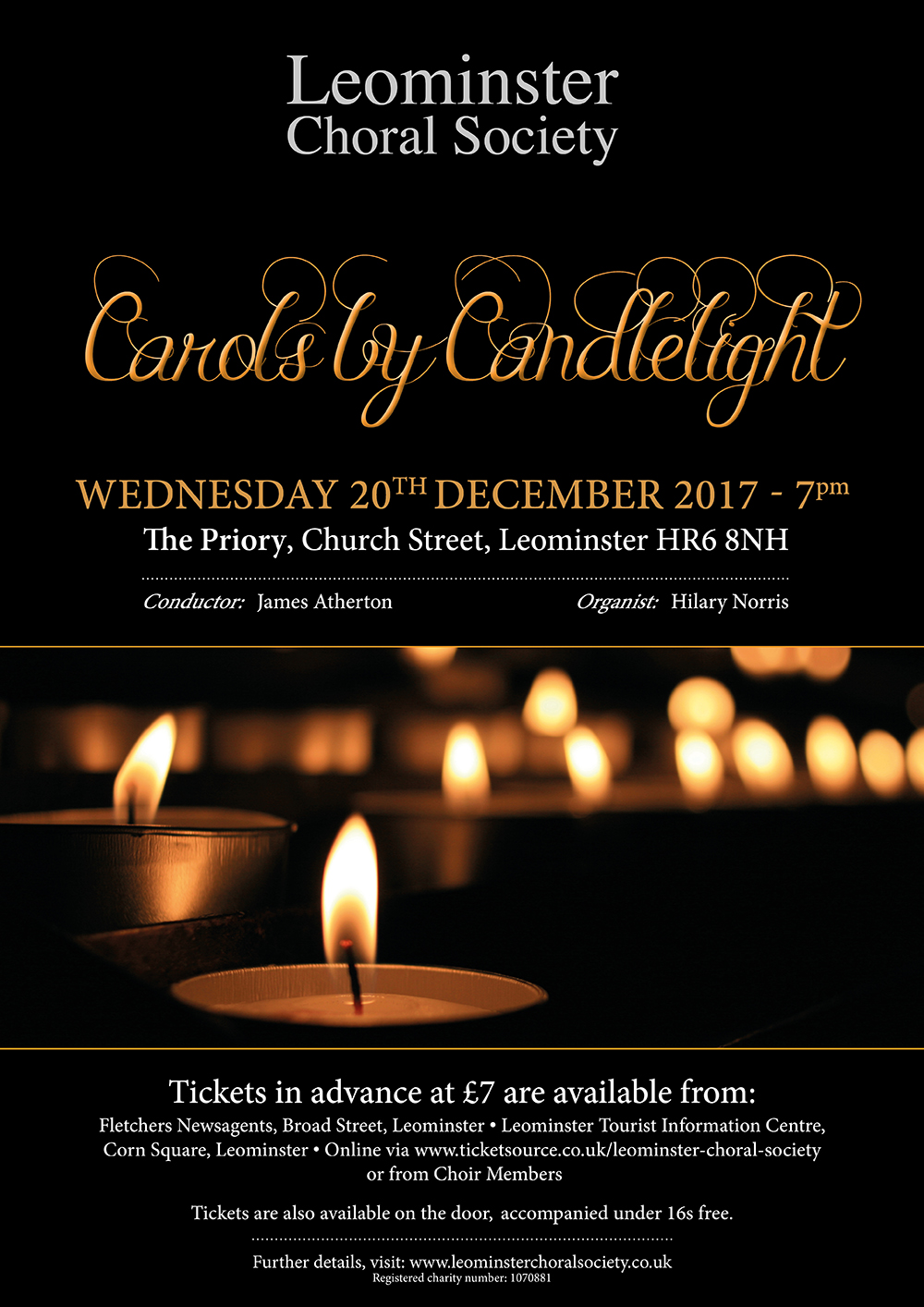 Carols by Candlelight in Leominster Priory