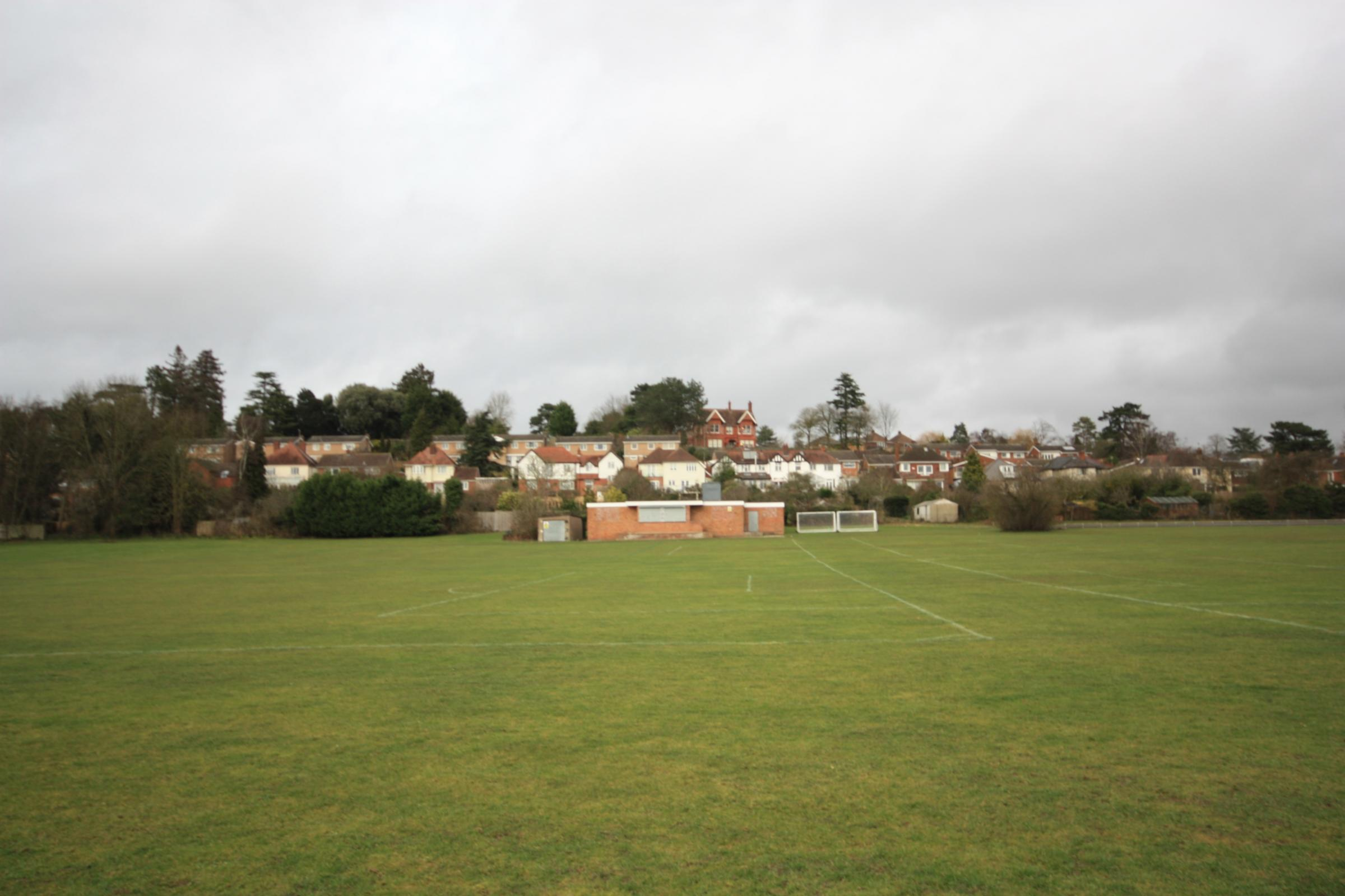 FOR SALE: A playing field in Battenhall Road is up for auction