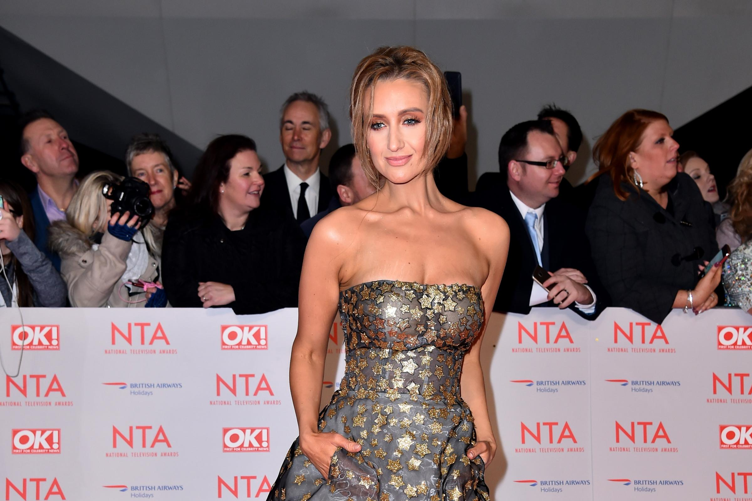 Catherine Tyldesley on the red carpet