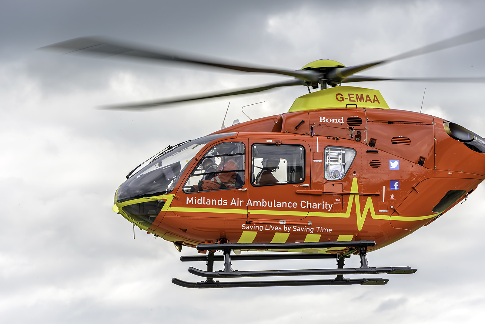 LIFESAViNG: The Maidlands Air Ambulances fly many livesaving missions in Worcestershire. Picture: Paul Humphries