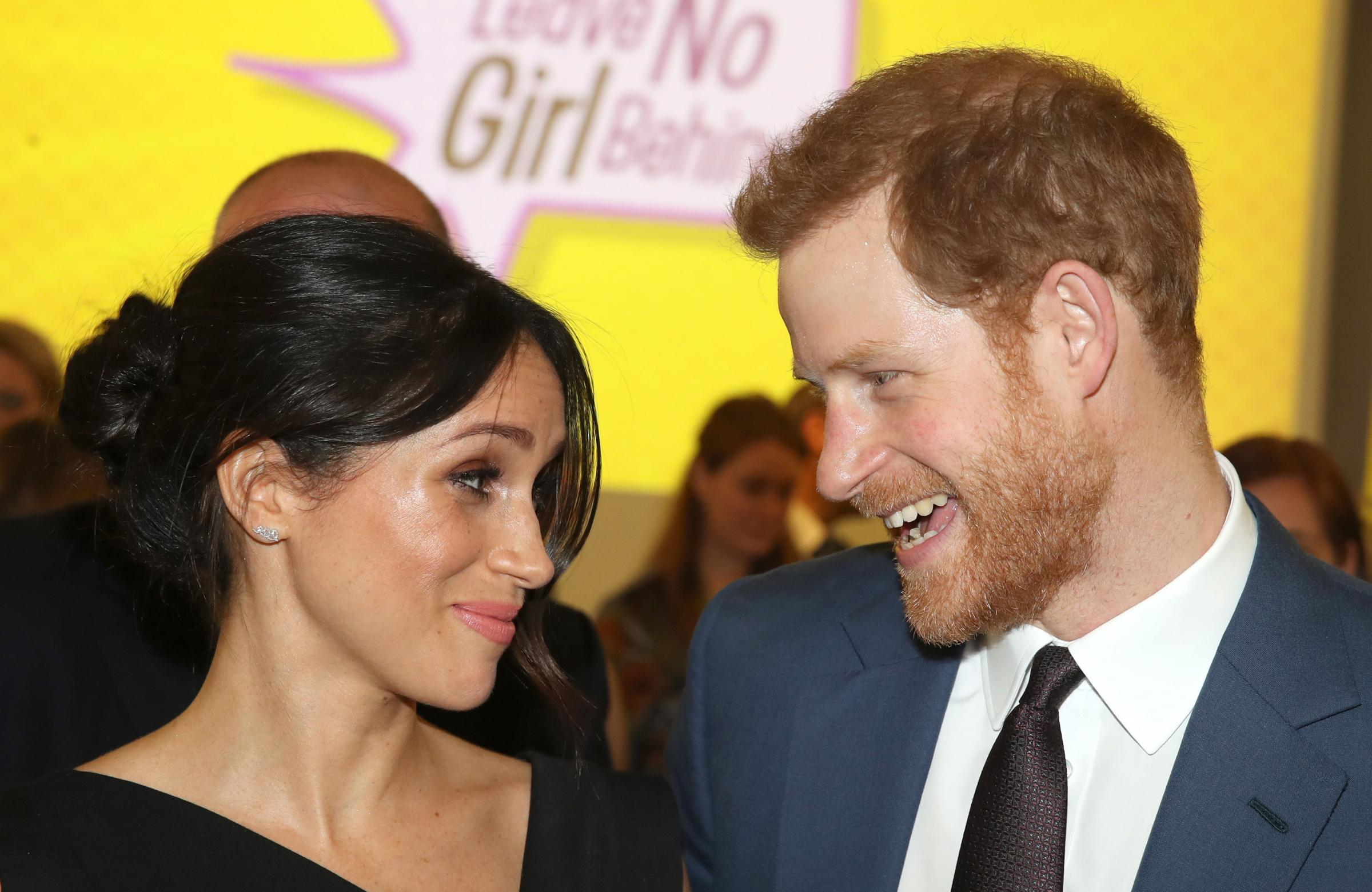 Prince Harry and Meghan Markle attend a women's empowerment reception at the Royal Aeronautical Society in London during the Commonwealth Heads of Government Meeting. PRESS ASSOCIATION Photo. Picture date: Thursday April 19, 2018. See