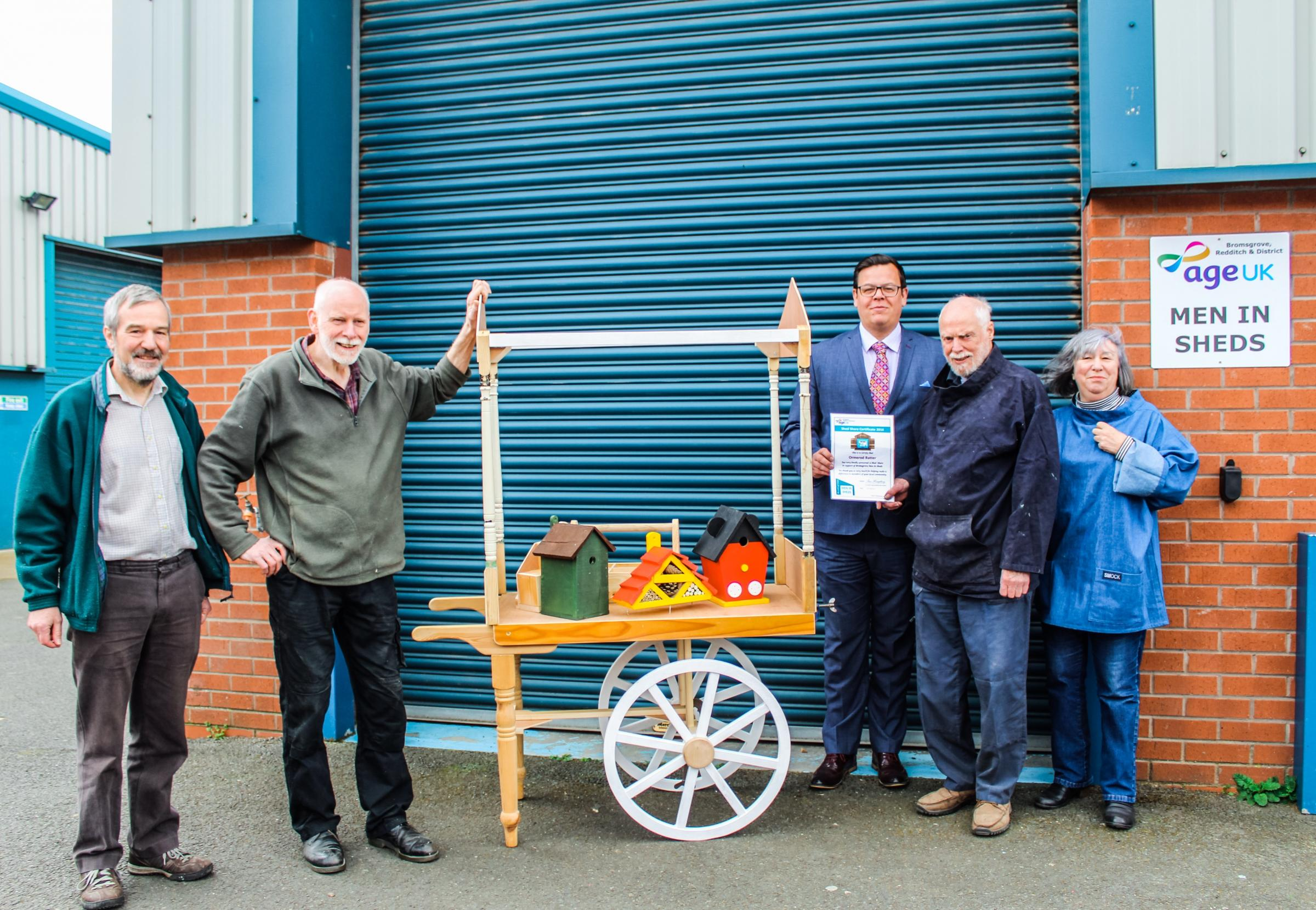 SHARE: Droitwich-based accountants Ormerod Rutter sponsor a shed for Age UK scheme to help over 50s come together.