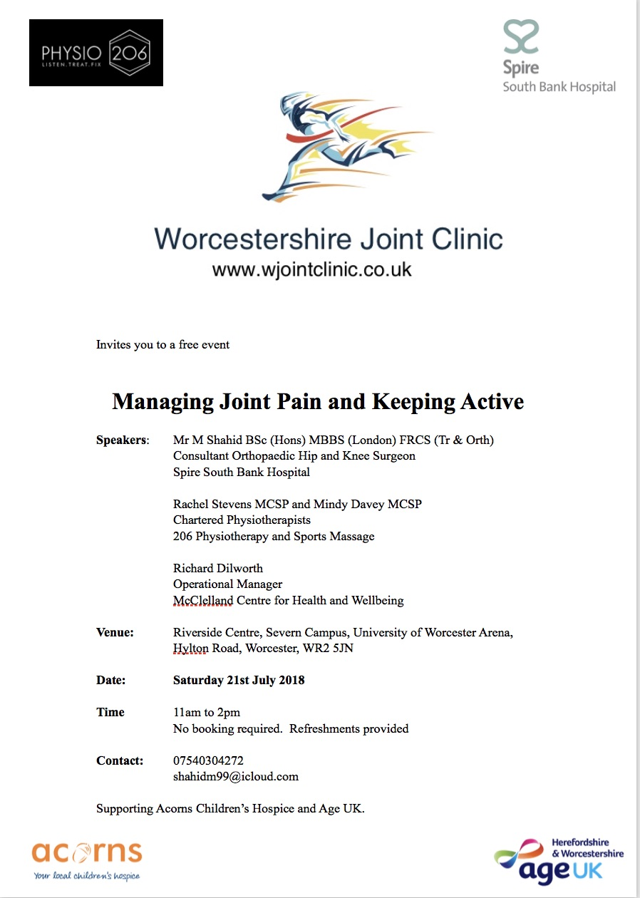 Managing Joint Pain and Keeping Active