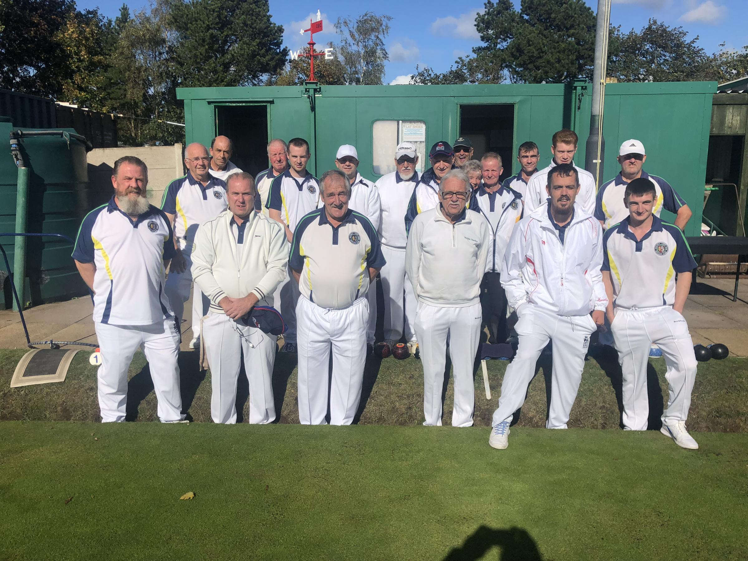 The successful Vines Park Bowling Club squad. Picture: VIC DUGGAN