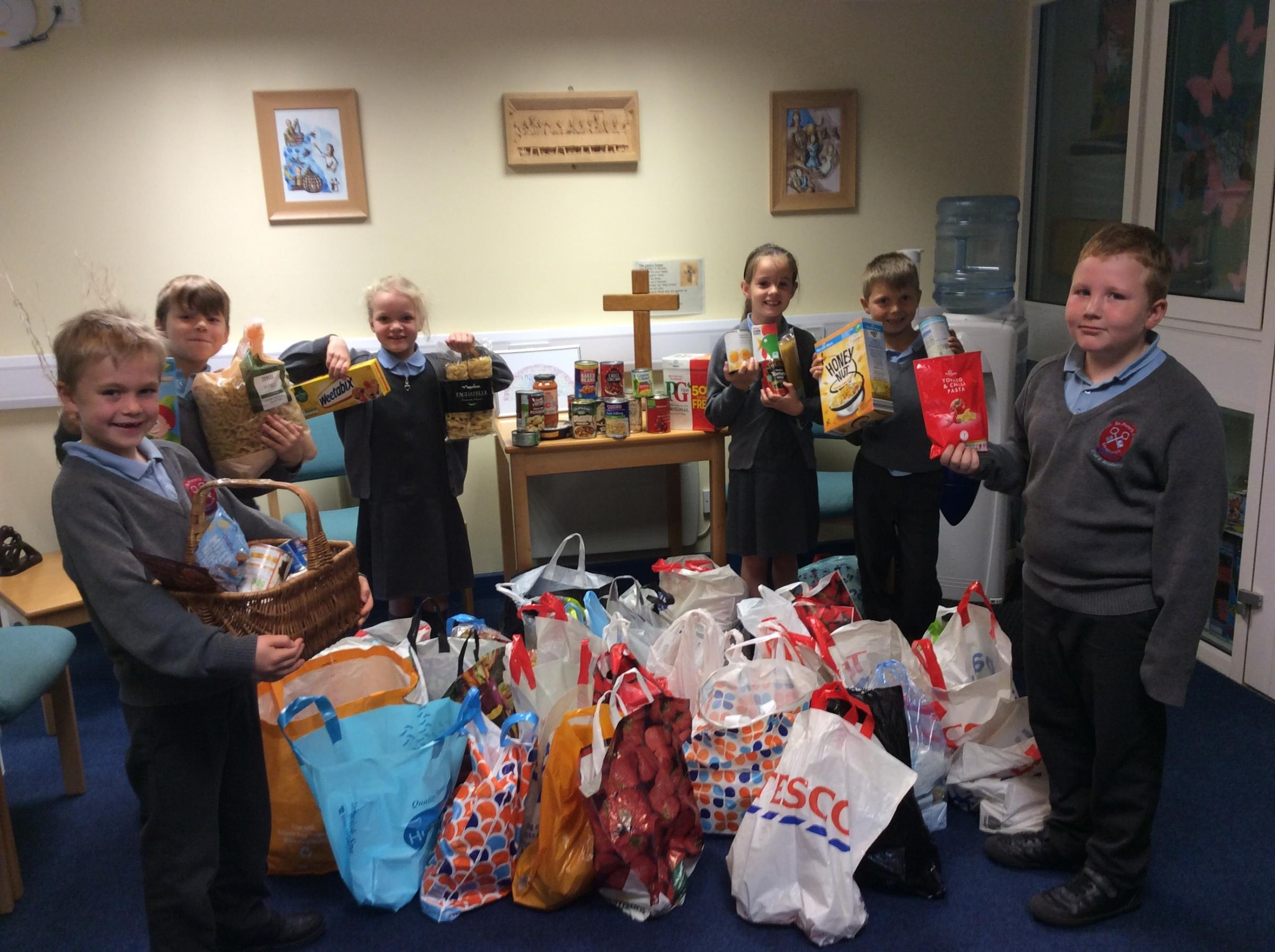 Harvest festival at St Peter's Droitwich CE Academy