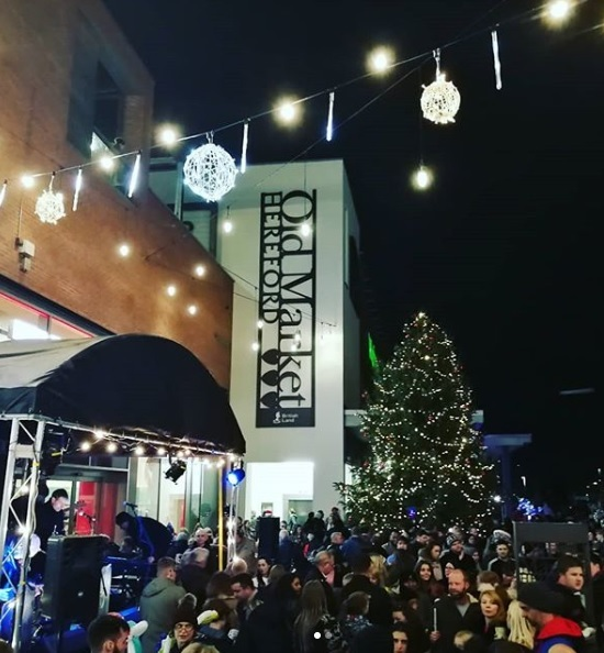 Christman lights switch-on at Old Market, Hereford. Picture by Ash Winter