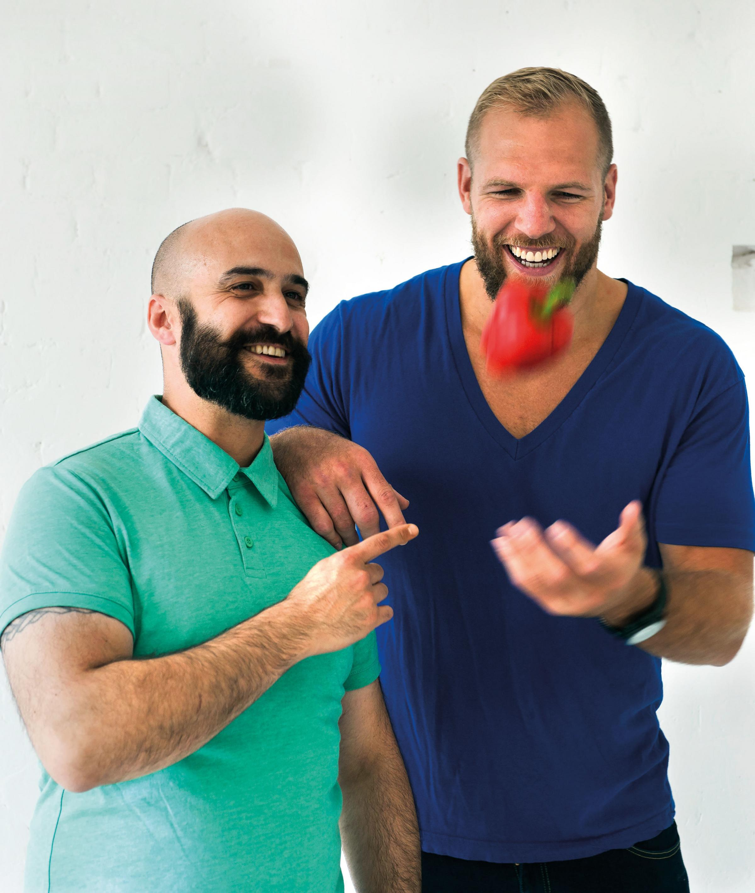 Undated Handout Photo of James Haskell and Omar Meziane. See PA Feature FOOD James Haskell. Picture credit should read: Neil Cooper/PA. WARNING: This picture must only be used to accompany PA Feature FOOD James Haskell.