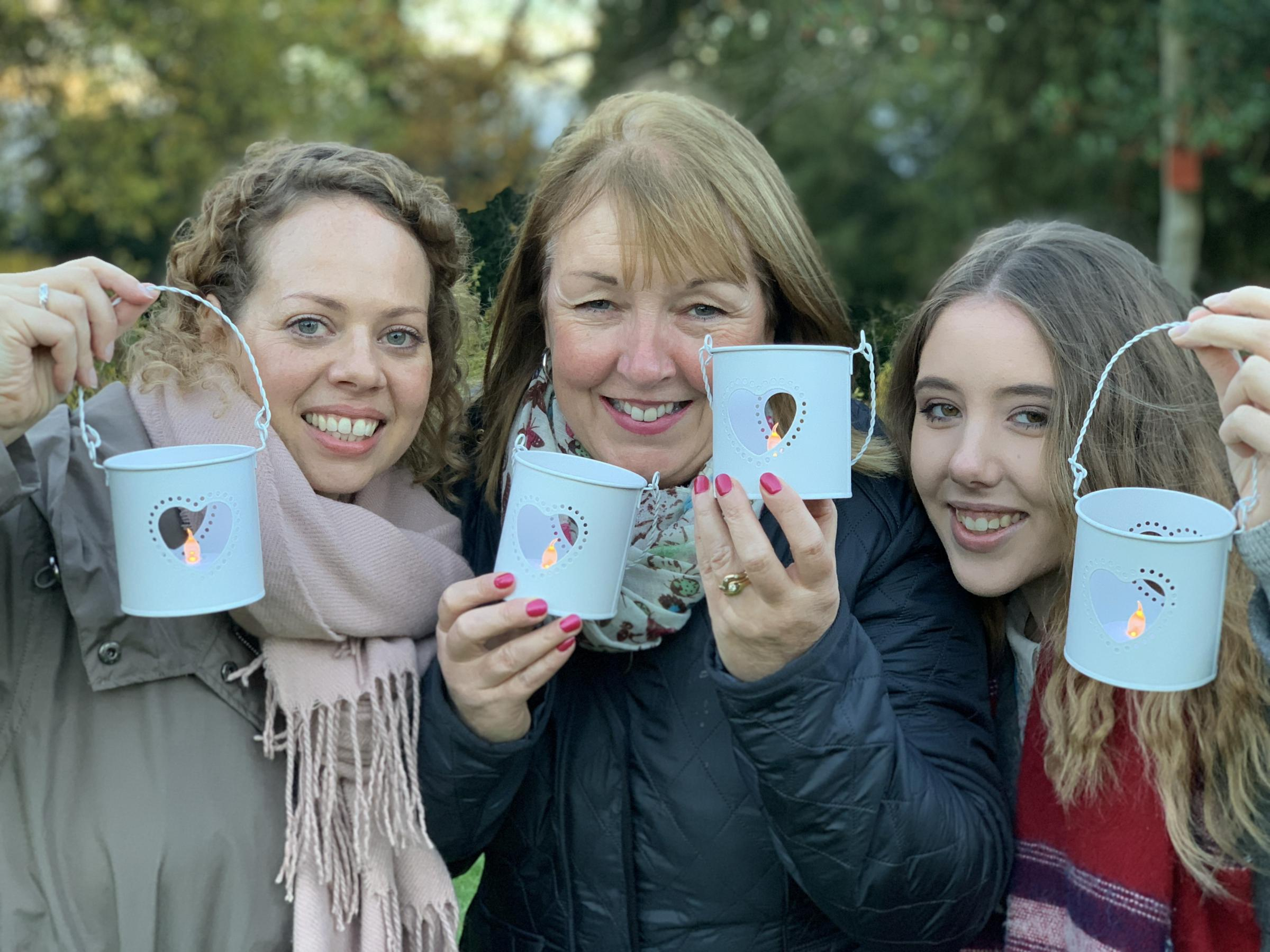 Primrose Hospice's Anna Wilson, Sarah Hughes and Amy Flemming look forward to the Lantern Walk. Picture courtesy of Primrose