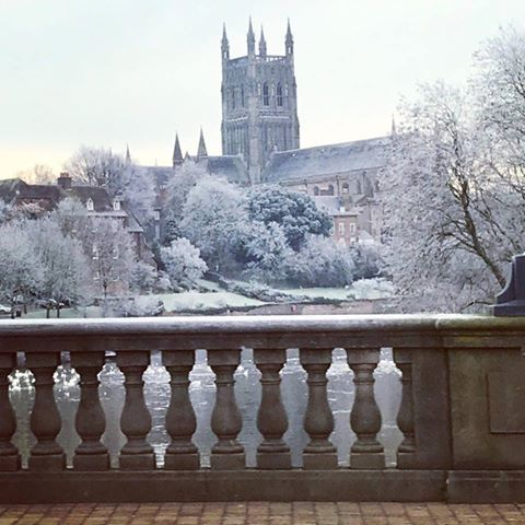 COLD: A yellow weather warning is still in place for Worcester. Pic. Charlotte Proctor