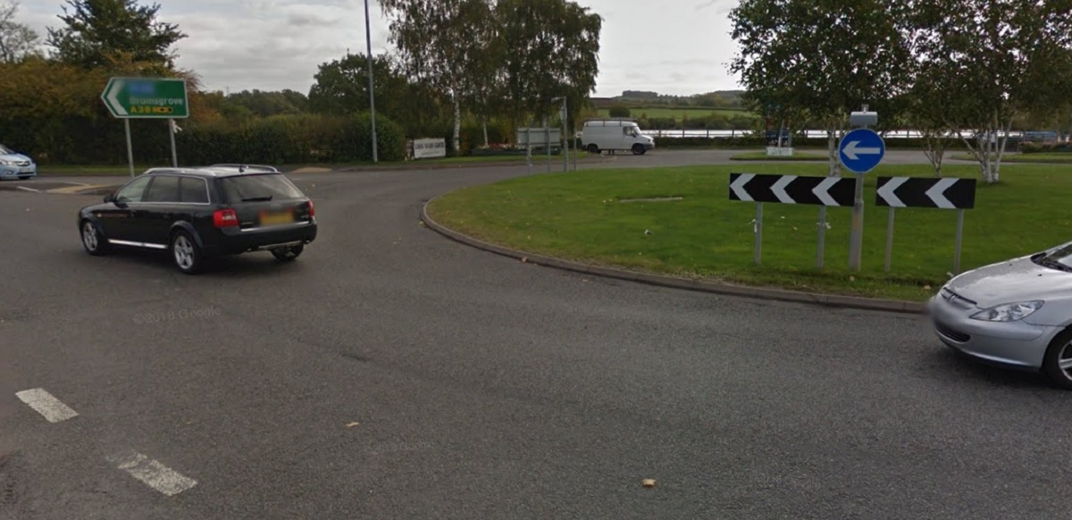 CRASH: The A38 roundabout where Cooper-Haime crashed. Picture: Google Street View
