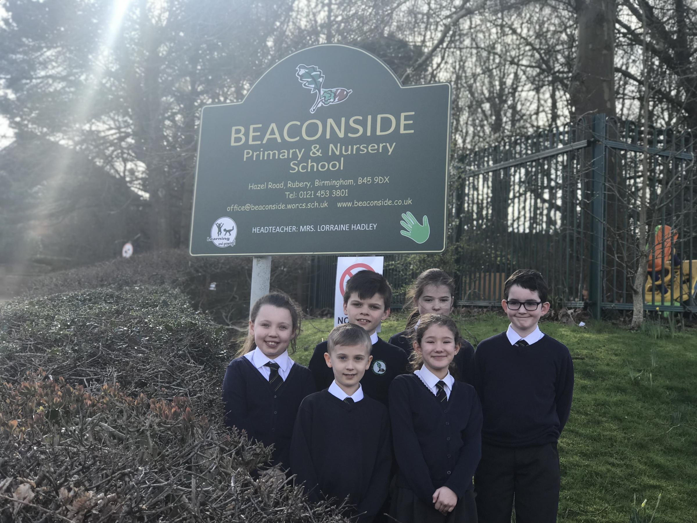 AWARD: Pupils from Beaconside Primary School