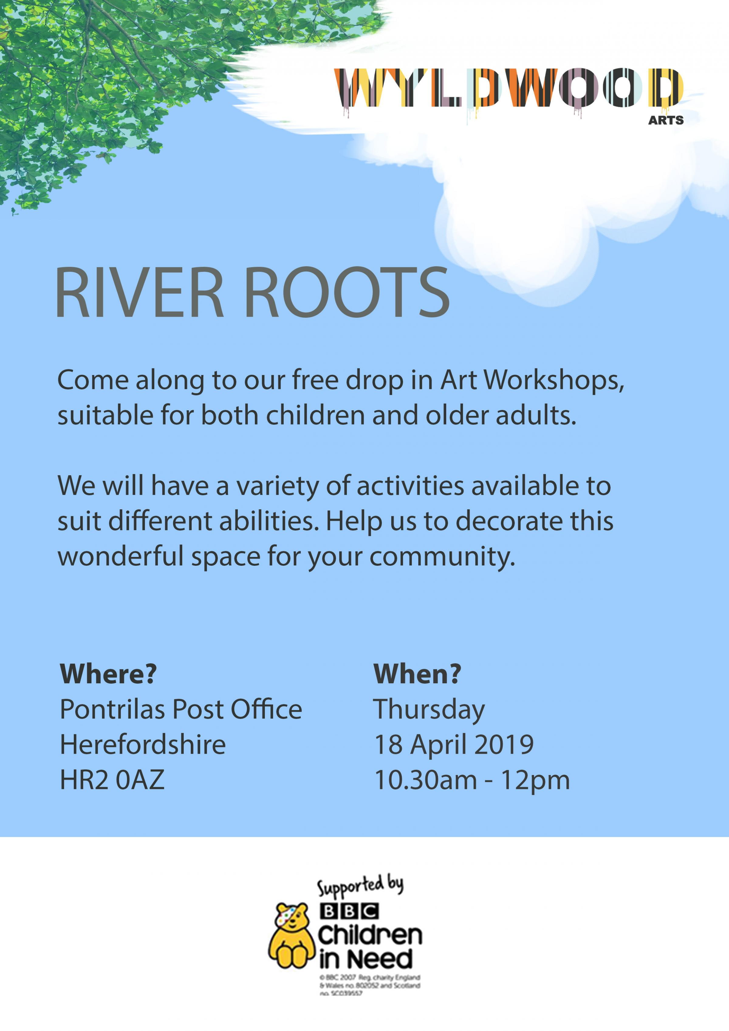 River Roots -free drop in workshops