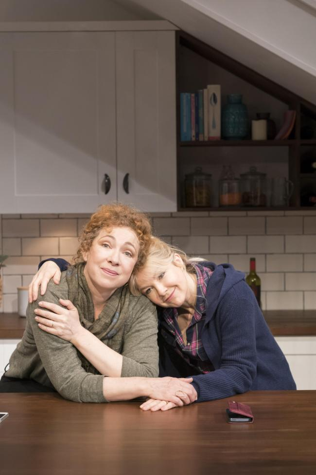 AMBITIOUS MOTHER: Alex Kingston and Sarah Hadland star in the comedy, Admissions, at Malvern.