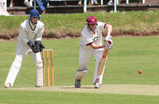 Skipper Mark Evenson top scored for his side